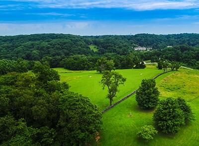 Aerial view of Brandywine Creek State Park in summer